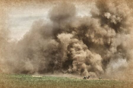 Explosion. Grange stile