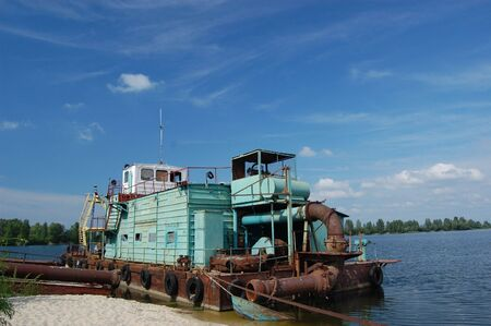 Abandoned vessel. Lost city. Near Chernobyl area. Modern ruins. Ukraine. Kiev region