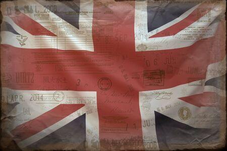 united nations: Bandera brit�nica  Foto de archivo