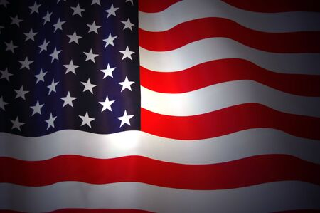American Flag as background for Clip-Art Stock Photo - 7515664