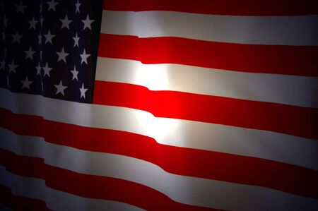 American Flag as background for Clip-Art Stock Photo - 7515643