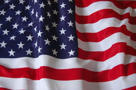 American Flag as background for Clip-Art  photo