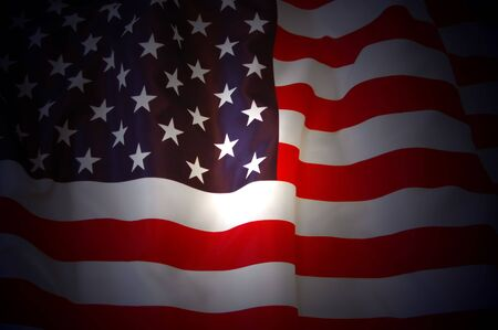 American Flag as background for Clip-Art Stock Photo - 7515659