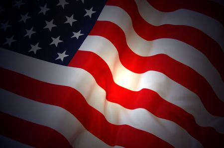 American Flag as background for Clip-Art Stock Photo - 7515657