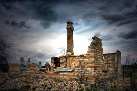Lost city.Near Chernobyl area.Kiev region,Ukraine Stock Photo - 7515726