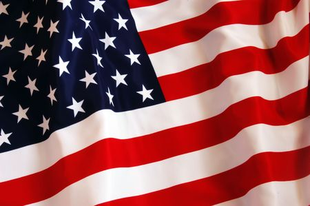 red flag: American Flag