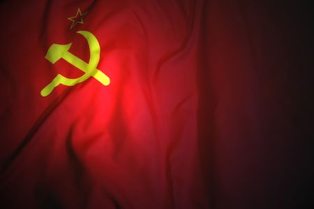 Sowjetischen Flagge  Lizenzfreie Bilder