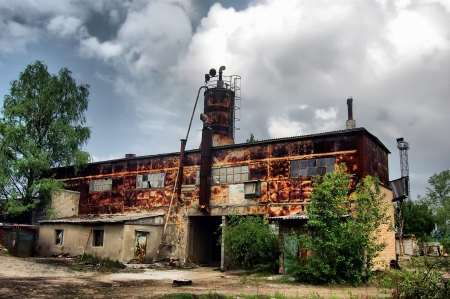 ecological disaster: Lost city.Near Chernobyl area.Kiev region,Ukraine