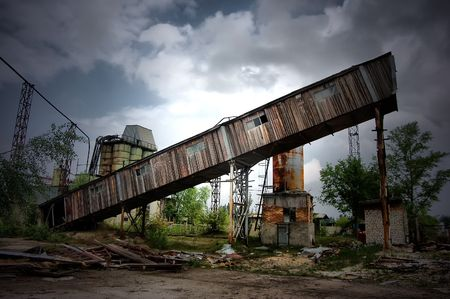 Lost city.Near Chernobyl area.Kiev region,Ukraine  Stock Photo - 7532111