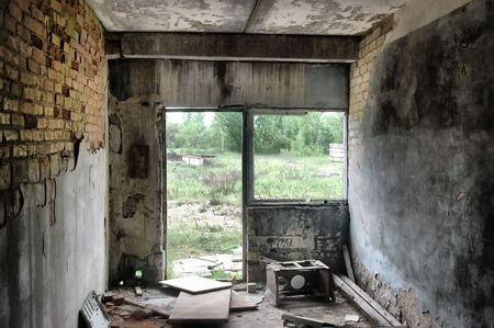 Lost city.Near Chernobyl area.Kiev region,Ukraine Stock Photo - 7532247