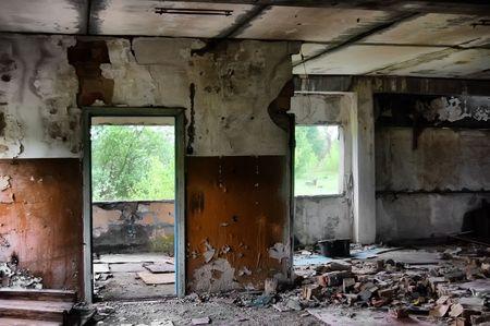 Lost city.Near Chernobyl area.Kiev region,Ukraine  photo