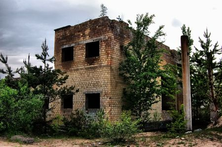 Lost city.Near Chernobyl area.Kiev region,Ukraine  Stock Photo - 7532308