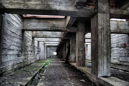 hdr: Cit� perdue.Pr�s de la zone de Chernobyl.R�gion de Kiev, Ukraine  Banque d'images
