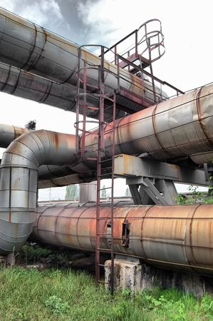 Pipes and tubes at a power plant. Kiev, Malorussia (Ukraine)  photo