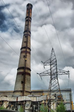 HDR.Power plant. Kiev, Malorussia (Ukraine)  photo