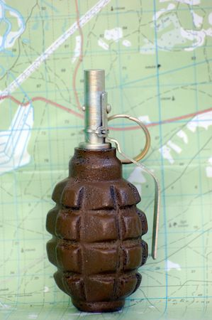 grenade and map photo