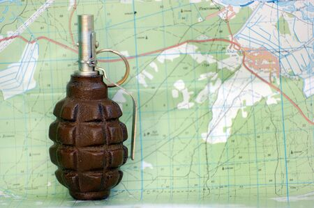 grenade and map Stock Photo - 7526859