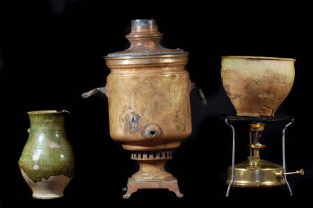 Archeology as hobby.Old Russian home items Stock Photo - 7527064