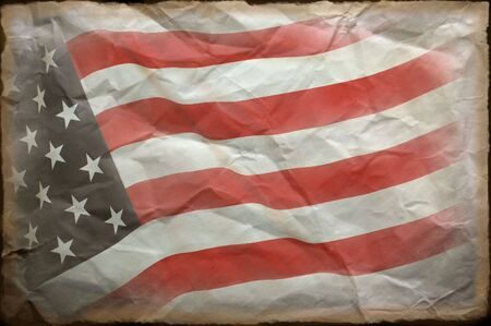 American Flag grange Stock Photo