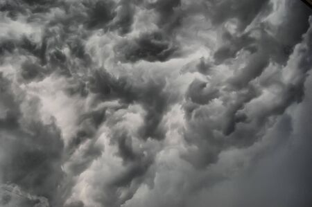 Dramatic stormy clouds .Kiev,Ukraine  photo
