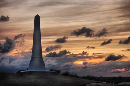 crimean: HDR.Monument to Russian soldiers. Crimean War. Field near Alma river Crimea,Malorussia (Ukraine)  Stock Photo