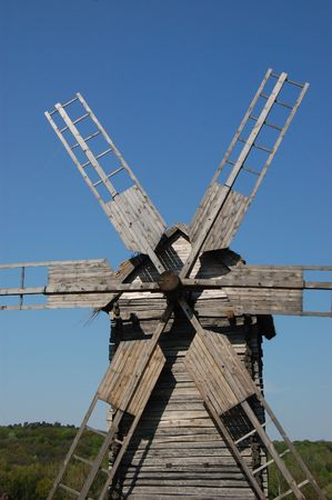 Old windmill. Ukraine Stock Photo - 7697552