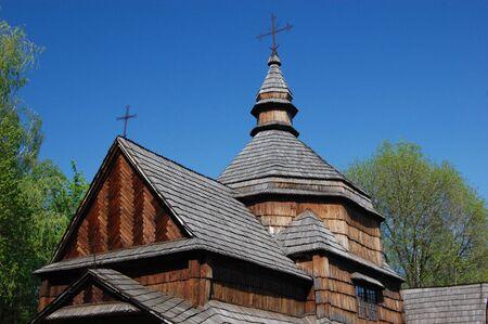 Wooden church in Kiev , Ukraine.Open-air museum Pirogovo  Stock Photo - 7697600