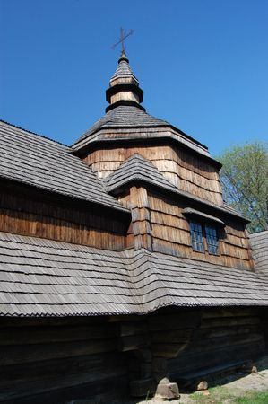 Wooden church in Kiev , Ukraine.Open-air museum Pirogovo Stock Photo - 7697616