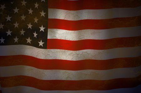 Amerikanische Markierungsfahne