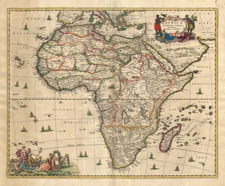 map of africa: Old map Stock Photo