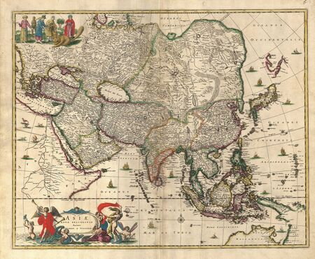 of yesteryear: Old map Stock Photo