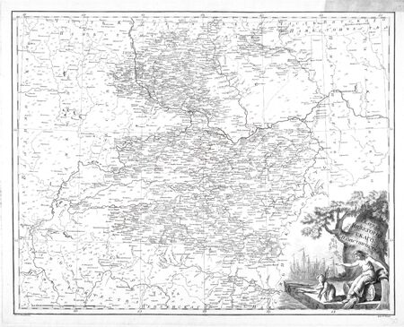 Old map. Russia 1792 photo
