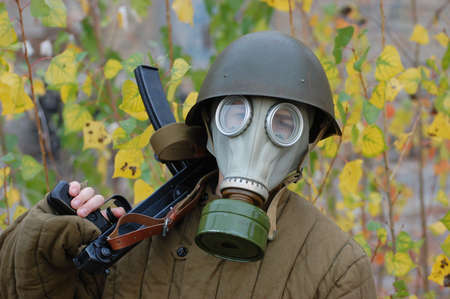 person in gas mask Stock Photo - 7706306