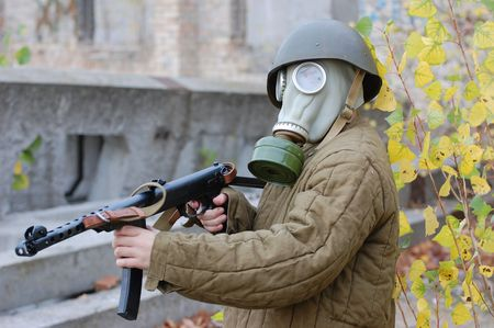 person in gas mask Stock Photo - 7712773