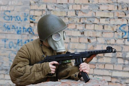 person in gas mask Stock Photo - 7712770