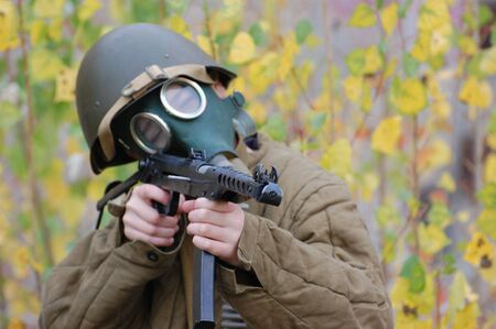 person in gas mask  Stock Photo - 7712762