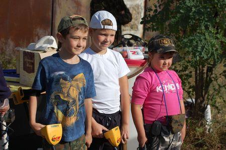 KIEV, UKRAINE - SEP 11: unidentified Members Ukrainian Federation Metal Searchin Sport on the First Ukrainian Competition of Treasure Hunting, Kids competition,September 11, 2010 in Kiev, Ukraine