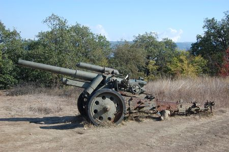 Remains of WW2.German cannon.Sevastopol,Crimea  photo