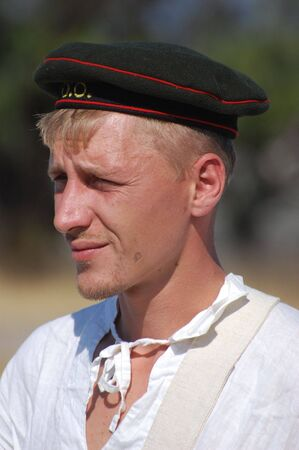 crimean: Russian soldier of Crimean War.Reenactment