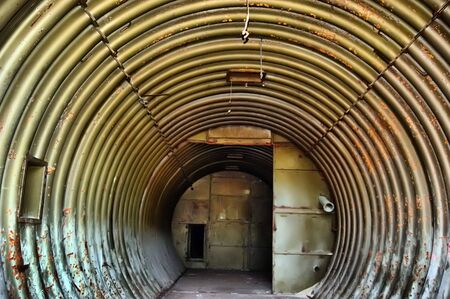 Industrial archeology. Abandoned bunker.Lost city.Near Chernobyl area.Kiev region,Ukraine  photo
