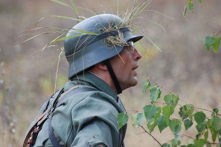 German soldier.WW2 historical reenactment Stock Photo - 7811668