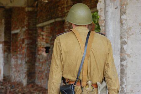 reenacting: Soldato sovietico. WW2 reenacting