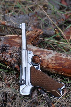 reenaction: German pistol  Stock Photo