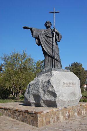 Monument to Saint Apostle Andrew in the Chersonesos Taurica, Sevastopol, Crimea, Ukraine  photo