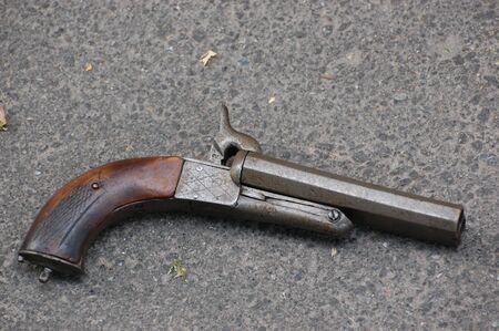 dueling pistol: antique handgun