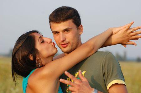 Portrait von jungen, gl�ckliches Paar