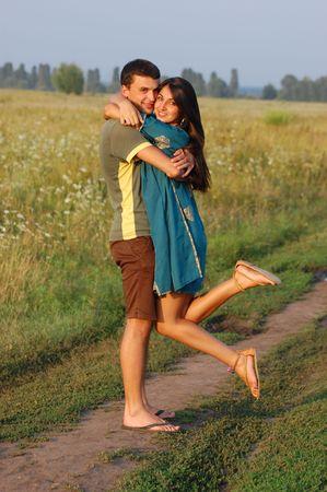 Portrait of young, happy couple  photo
