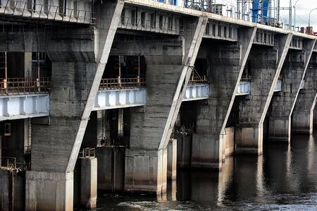 Hydroelectric power station. Kiev (Vyshgorod),Ukraine  photo