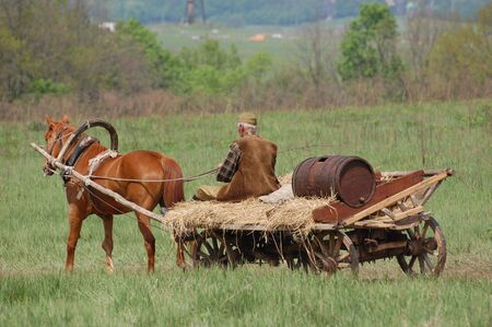 Old Russian horse cart  photo