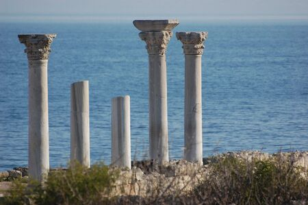 crimea: Ruins of ancient greek colony Khersones. Sevastopol,Crimea